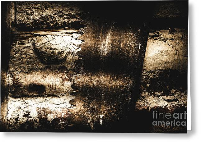 Vintage Mining Saw Greeting Card by Jorgo Photography - Wall Art Gallery