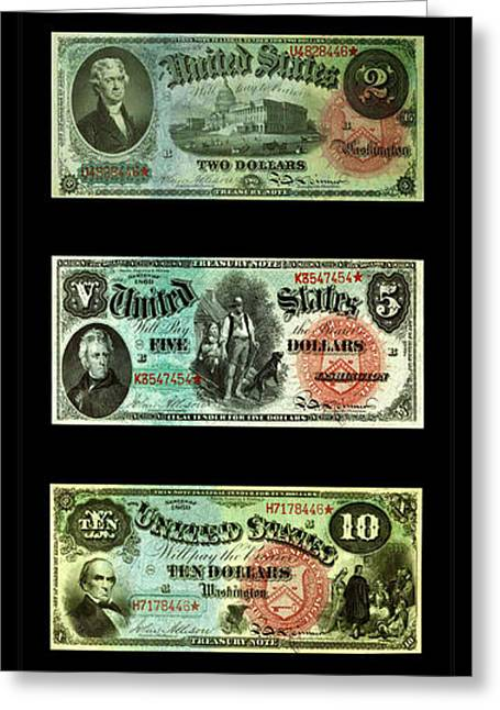 Vintage Money 1 Greeting Card