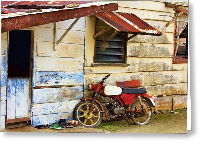 Vintage Motorbike Greeting Card