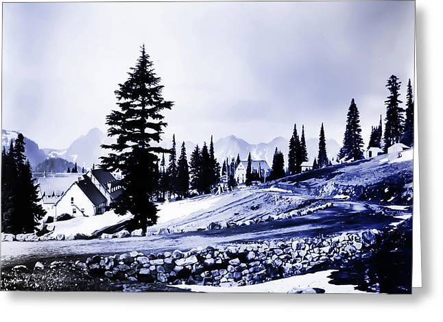 Vintage Mount Rainier Lodge Early 1900 Era... Greeting Card