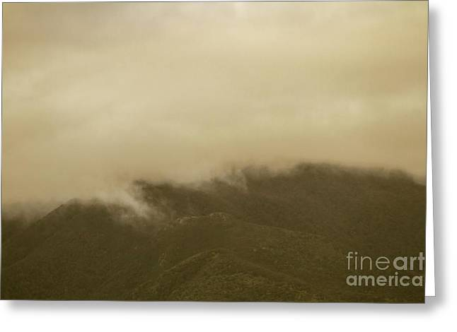 Vintage Mountains Covered By Cloud Greeting Card