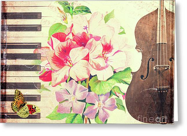 Vintage Music Greeting Card