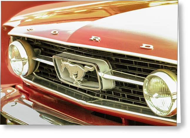 Greeting Card featuring the photograph Vintage Mustang by Caitlyn Grasso