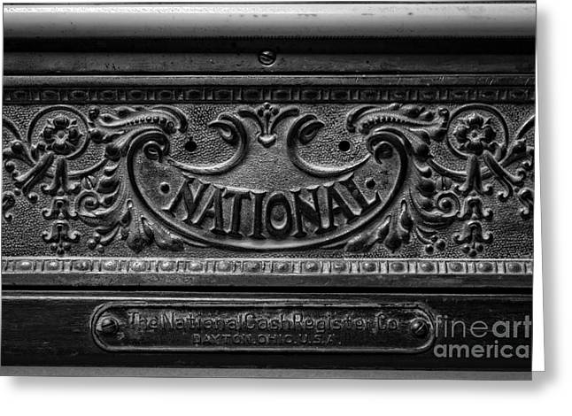 Vintage National Cash Register Greeting Card by Edward Fielding