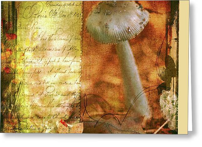 Vintage Nature Journal Page  Greeting Card by Bellesouth Studio