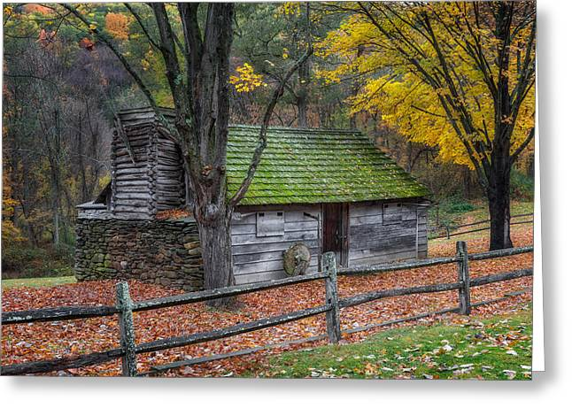 Vintage New England Cabin Greeting Card