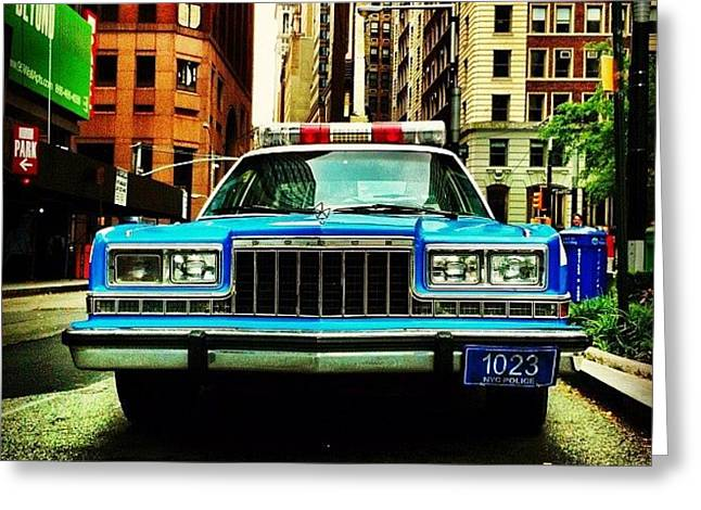 Vintage Nypd. #car #nypd #nyc Greeting Card