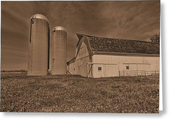 Vintage Ohio Barn Greeting Card