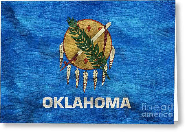 Vintage Oklahoma Flag Greeting Card