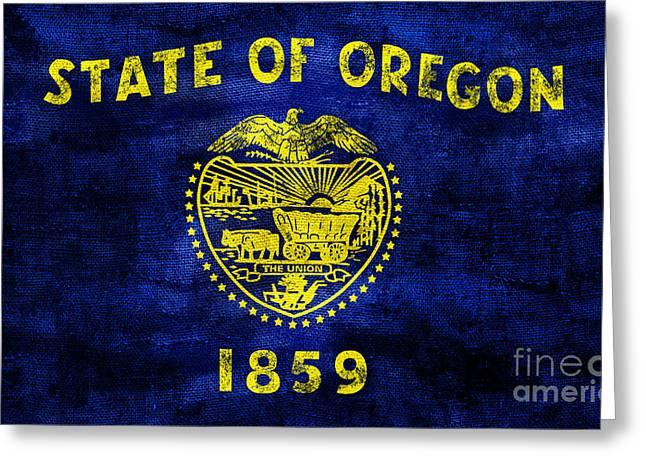 Vintage Oregon Flag Greeting Card