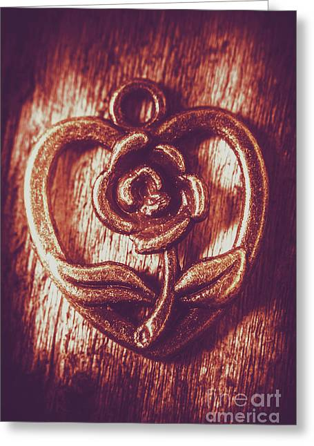 Vintage Ornamental Rose Greeting Card