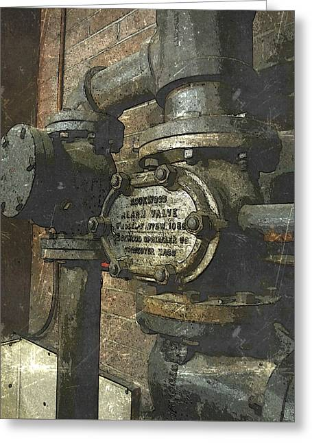 Vintage Iron Pipes Greeting Card