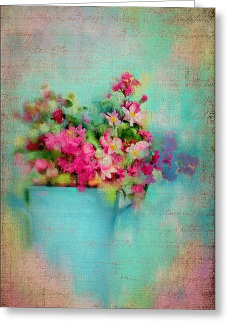 Flowers From A Cottage Garden Greeting Card