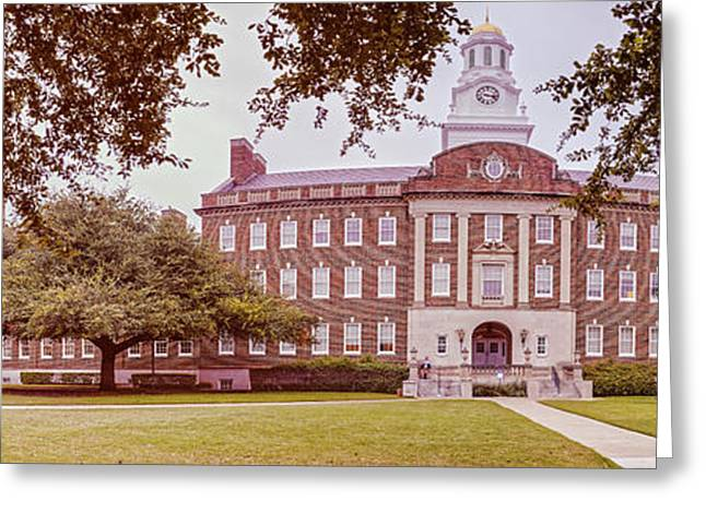 Vintage Panorama Of The Fondren Science Building At Southern Methodist University - Dallas Texas Greeting Card
