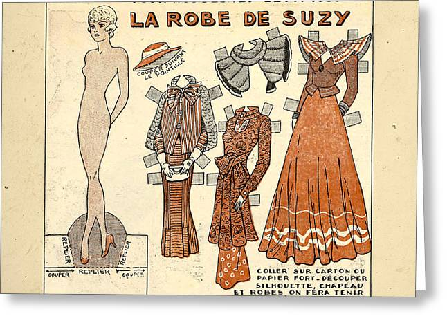 Vintage Paper Doll Greeting Card