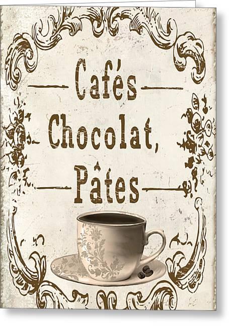 Vintage Paris Cafe Sign Greeting Card