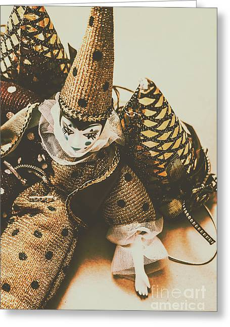 Vintage Party Puppet Greeting Card by Jorgo Photography - Wall Art Gallery