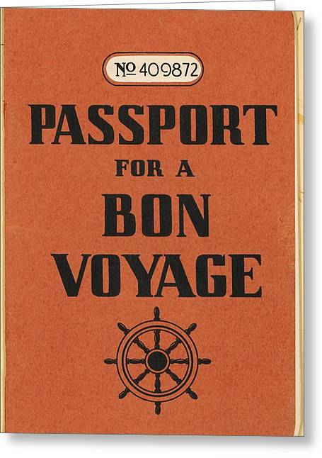 Vintage Passport Greeting Card by Gillham Studios