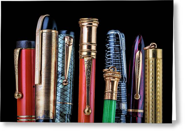 Vintage Pen Collection Greeting Card