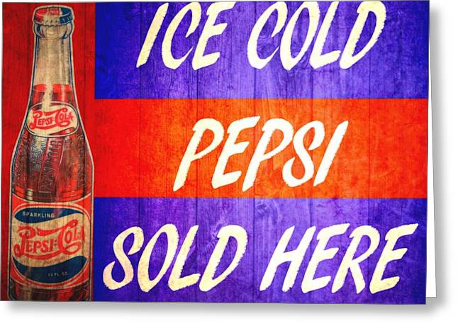Vintage Pepsi Cola Barn Door Greeting Card
