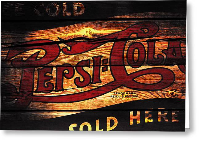 Vintage Pepsi-cola Sign 1b Greeting Card by Brian Reaves