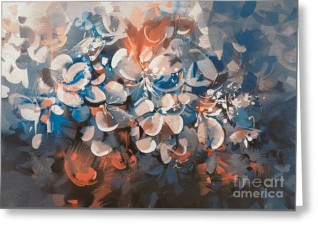 Greeting Card featuring the painting Vintage Petal by Tithi Luadthong