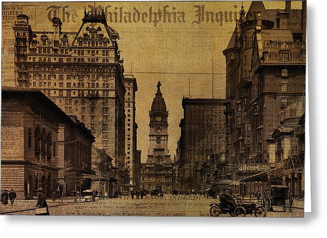 Vintage Philadelphia Greeting Card