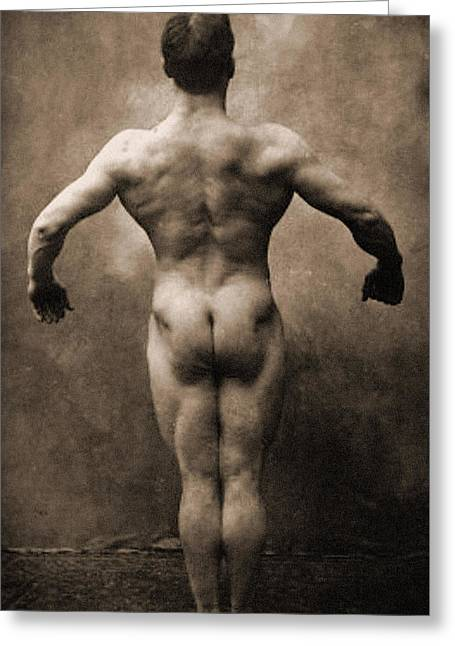 Vintage Photo Of Lionel Strongfort, 1910 Greeting Card by German School