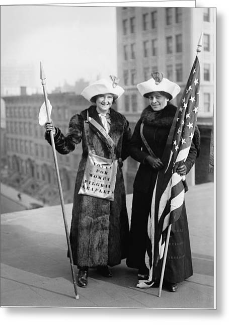 Vintage Photo Suffragettes Greeting Card