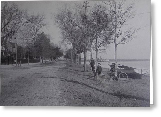 Vintage Photograph 1902 Front Street New Bern Nc Greeting Card by Virginia Coyle