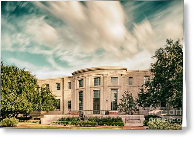 Vintage Photograph Of The Armstrong Browning Library - Baylor University - Waco Central Texas Greeting Card by Silvio Ligutti