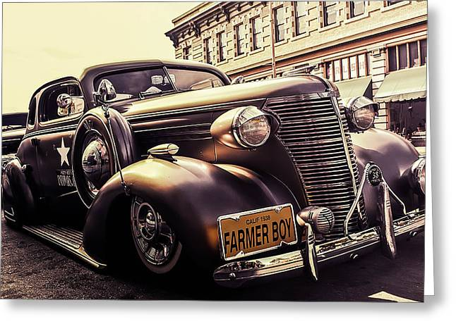 Vintage Police Car Greeting Card