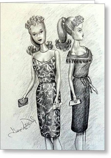 Vintage Ponytail Barbie Greeting Card