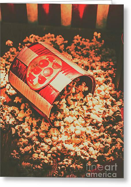 Vintage Popcorn Tin. Faded Films Still Life Greeting Card