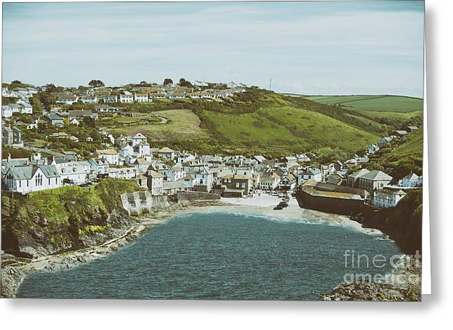 Vintage Port Isaac Greeting Card by Amanda Elwell