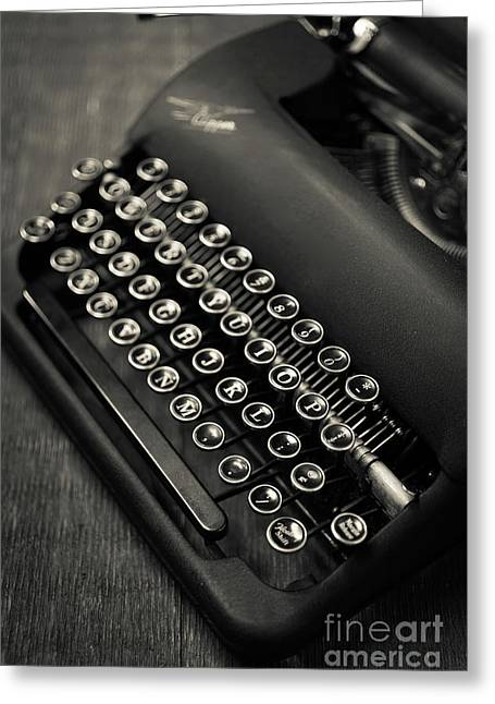 Vintage Portable Typewriter Greeting Card by Edward Fielding