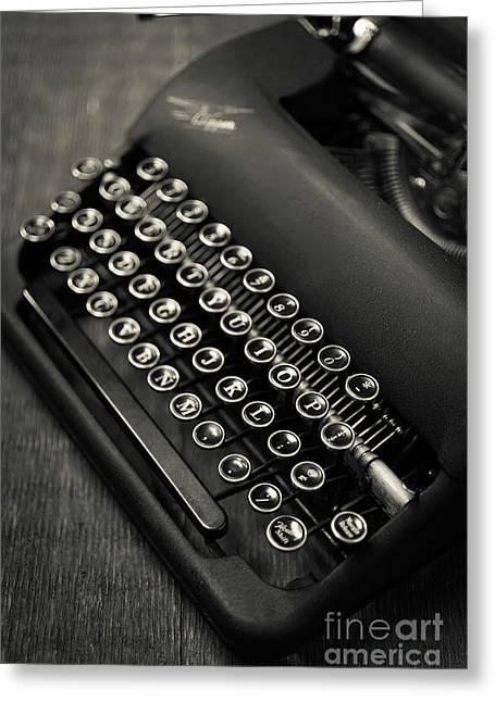 Vintage Portable Typewriter Greeting Card