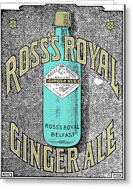Vintage Poster Art - Gingerale  Greeting Card by Wall Art Prints