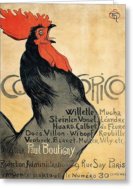 Vintage Poster - Cocorico Greeting Card by Vintage Images