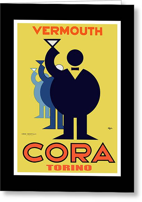 vintage poster Cora Vermouth Greeting Card