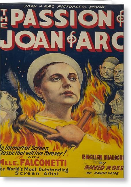 Vintage Poster - Joan Of Arc Greeting Card by Vintage Images