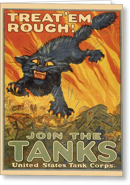 Vintage Poster - Join The Tanks Greeting Card by Vintage Images