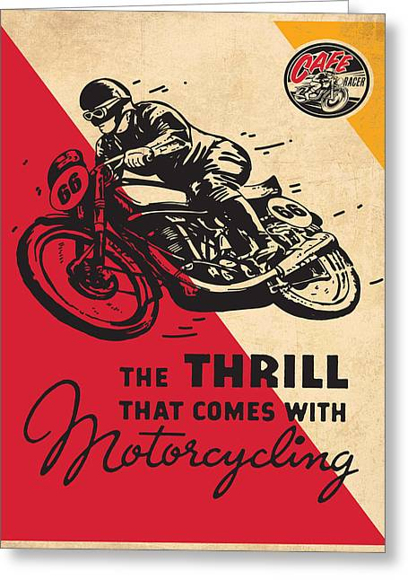 Vintage Poster - Motorcycling Greeting Card by Vintage Images