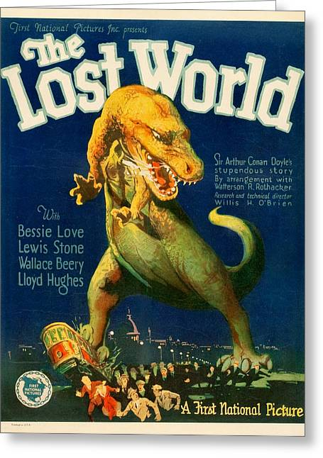 Vintage Poster - The Lost World Greeting Card by Vintage Images