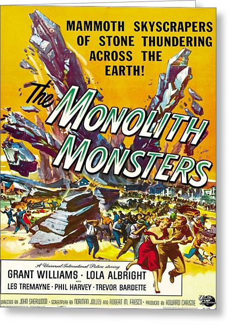 Vintage Poster - The Monolith Monsters Greeting Card by Vintage Images