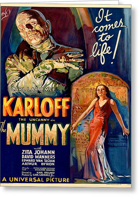 Vintage Poster - The Mummy Greeting Card by Vintage Images