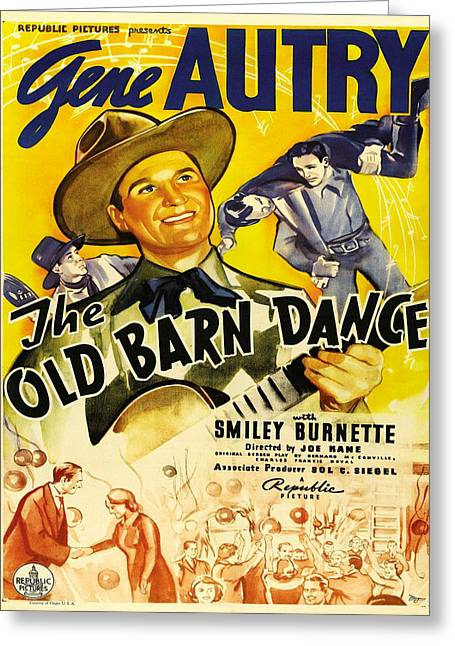 Vintage Poster - The Old Barn Dance Greeting Card by Vintage Images