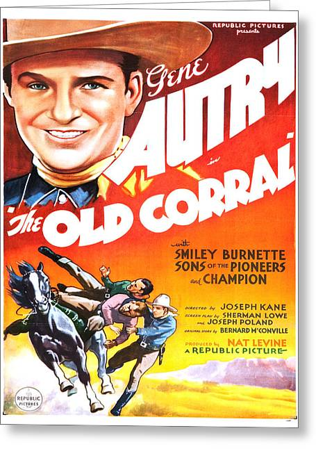 Vintage Poster - The Old Corral Greeting Card by Vintage Images