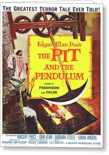 Vintage Poster - The Pit And The Pendulum Greeting Card by Vintage Images