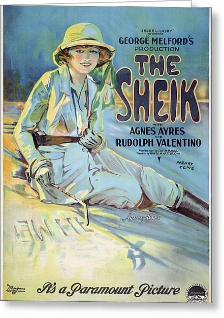 Vintage Poster - The Sheik Greeting Card by Vintage Images